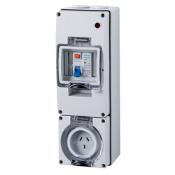 Voltex 250V 10A 3Pin 30mA IP66 RCD Protected Socket Outlet