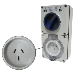 Voltex Switched Socket Outlets - IP56 250V 10A - 3 Flat pins