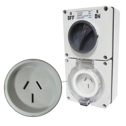 Voltex Switched Socket Outlets - IP56 250V 15A - 3 Flat pins
