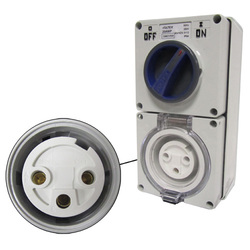 Voltex Switched Socket Outlets - IP56 250V 32A - 3 Round pins - Double Pole