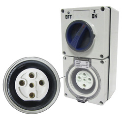 Voltex Switched Socket Outlets - IP56 500V 20A - 5 Round pins