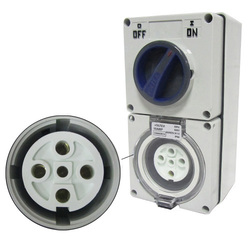 Voltex Switched Socket Outlets - IP56 500V 40A - 5 Round pins