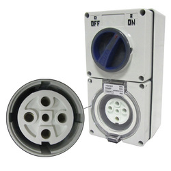 Voltex Switched Socket Outlets - IP56 500V 50A - 5 Round pins