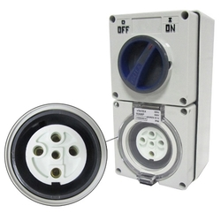 Voltex Switched Socket Outlets - IP56 500V 10A - 5 Round pins