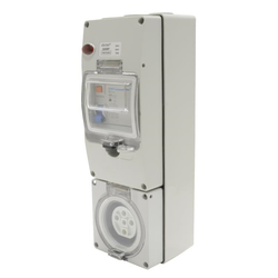 Voltex 500V 20A 5Pin 30mA RCD Protected Socket Outlet