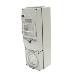 Voltex 500V 40A 5Pin 30mA RCD Protected Socket Outlet