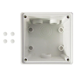 Voltex One Gang Mounting Enclosure (Back Box) -  Chemical Resistant White