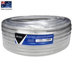 Voltex Corrugated Conduit Grey 20mm x 50m