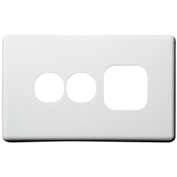 Voltex Classic Cover Plate for Single Power Outlet with Extra Switch