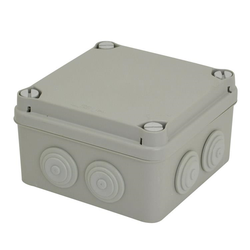 Voltex IP65  (108 x 108 x 64mm) Junction Box with conical cable-glands
