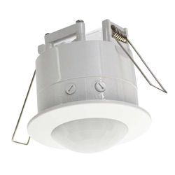 Economy Interior Flush-mount 360 degree Ceiling Motion Sensor - White