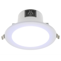 Voltex Monaco 9.5W IP44 Integrated Driver LED Down Light - Cool White - 6000K- 90mm