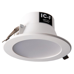 Voltex Monaco 9.5W IP44 Integrated Driver LED Down Light - Warm White - 3000K - 90mm