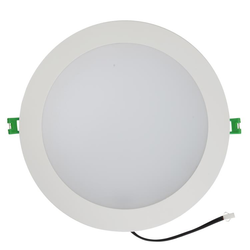 Bridport 23 Watt LED Down Light - Warm White - 3000K - White Frame - 200mm cut-out
