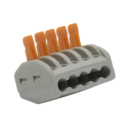 5-conductor terminal blocks with levers 50 Pk
