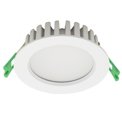 LE MANS 9W LED Down Light - Warm White 3000K - Matt White - 90mm