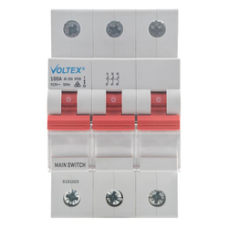 3 Pole Main Switch 100A