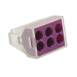 6 Way Push-Wire Connector 100pk