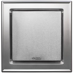 Voltex 250mm Silver  Ducted Flush Mounted Square Ceiling Exhaust Fan