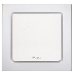 Voltex 250mm White Side Ducted Flush Mounted Square Ceiling Exhaust Fan
