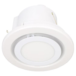 Voltex 250mm Round Ceiling Exhaust Fan with 15W 4000K LED Light - Flush Mounted