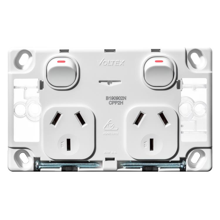 Voltex Classic Double Power Outlet 250V 10A