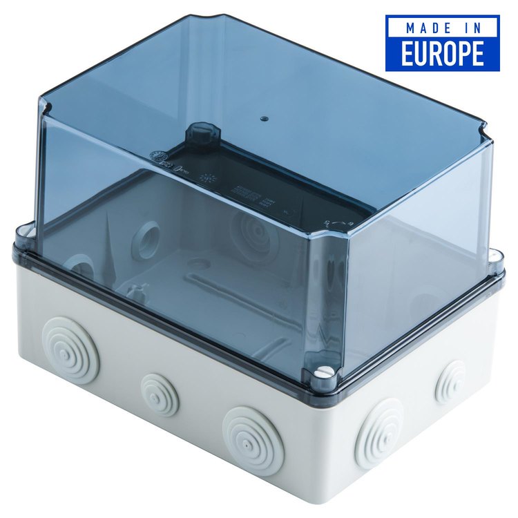 Voltex IP65 (241 x 180 x 175mm) Junction Box with conical cable glands