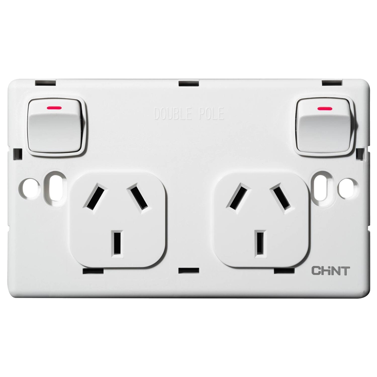 Voltex Double Pole Double Power Outlet 250V 10A